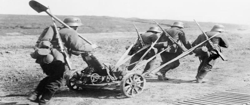 Slide 27 German soldiers towing a 147