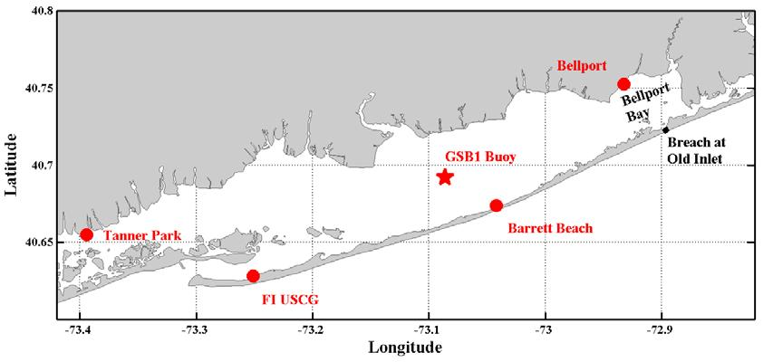 The Impact on Great South Bay of the Breach at Old Inlet Charles N. Flagg and Roger Flood School of Marine and Atmospheric Sciences, Stony Brook University The Great South Bay project (http://po.msrc.