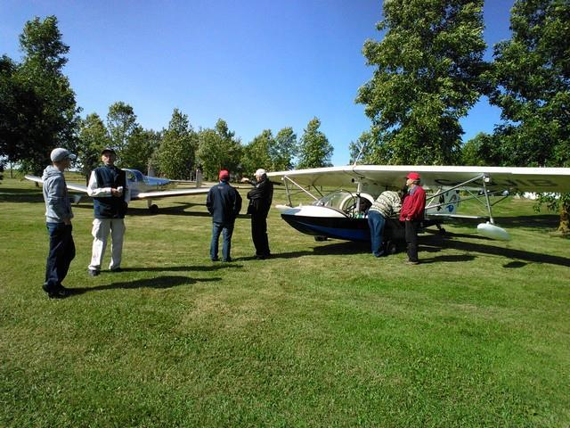 MacPat Fly-in near Arthur Ontario Mac and Pat McCulloch