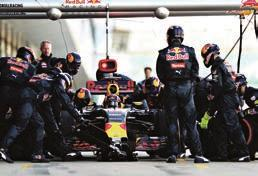 Operations Room at the Red Bull Racing factory in the UK: The Action Plan DR to return to the Pits immediately to change tyres and nose/front wing assembly.