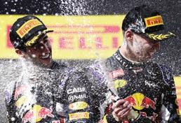 DR secured 3rd place DK finished 2nd Placing both Red Bull Racing drivers together on the podium for the first time 3.