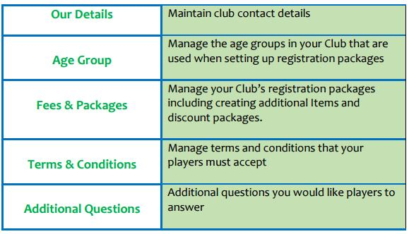 Mandatory Steps for MyFootballClub These details are only viewable by your Club registrars, the staff at Football Queensland