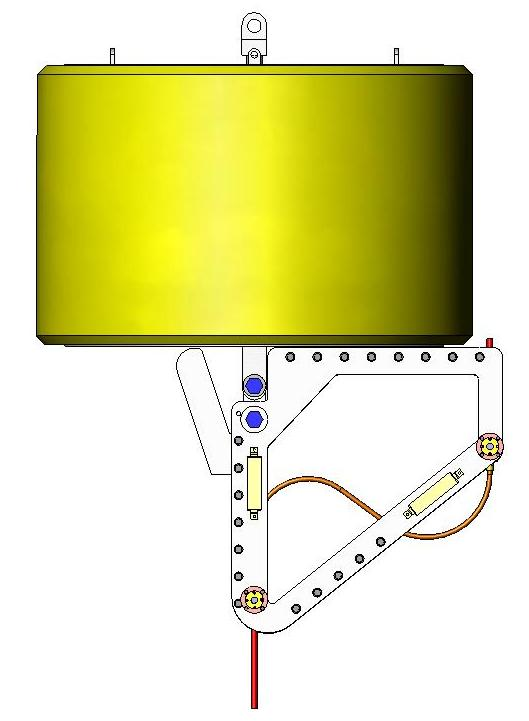 Figure 16 Bend Limiter Frame Design Figure 14 Umbilical Buoy Frame Detail Umbilical Limiting Frame An Umbilical Bend Limiting Frame was secured to the base of the buoy to connect and manage the