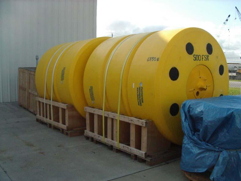 Each array assembly is supported in the water column by Sub-Surface Buoys.