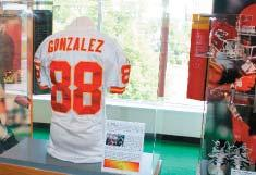 GONZALEZ S RECORD-SETTING SEASON HONORED IN CANTON TE Tony Gonzalez s game jersey from the Chiefs 2004 regular season finale at San Diego (1/2/05) is currently on display in the Pro Football Today