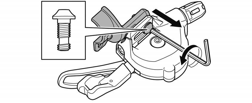 lbs.} 4. Secure the clamp band of the brake lever with an Allen key.