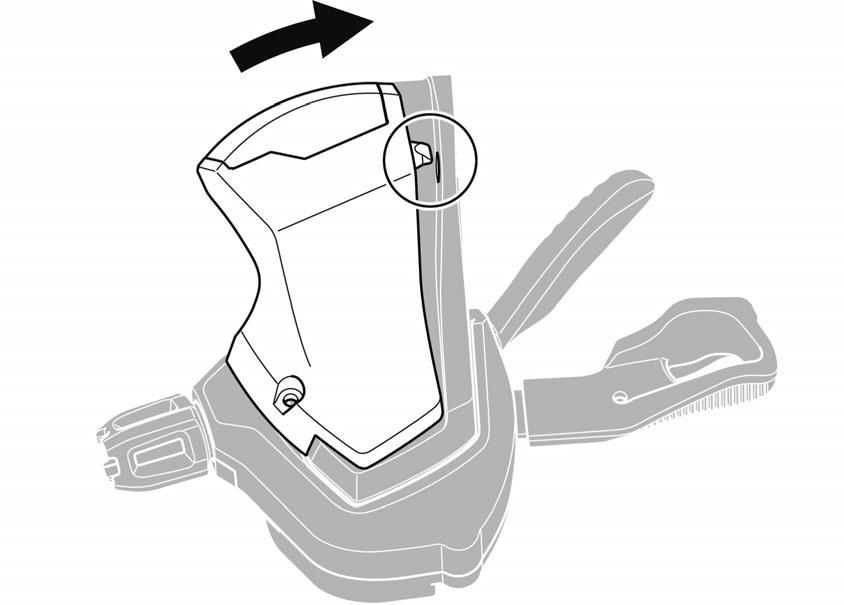 NOTE (A) Indicator unit (B) Hook Before assembly, operate the release lever 3 or more times (10 or more times for the
