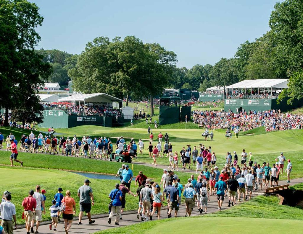 IN THE COMMUNITY The Travelers Championship provides nonprofits the tools needed through