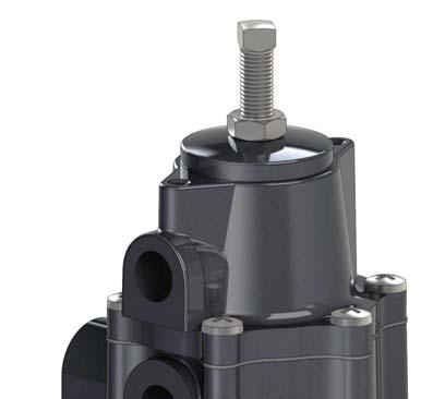Also, improves accuracy and reduces inlet sensitivity caused by inlet pressure fluctuations.