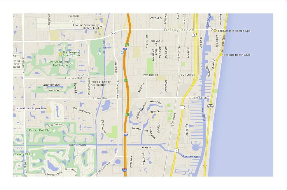 Ocean Blvd, 56-330-3775 FLORIDA S TURNPIKE JOG ROAD S. MILITARY TRAIL S. CONGRESS AVE. Exit 5 LINTON BLVD. S. DIXIE HWY.