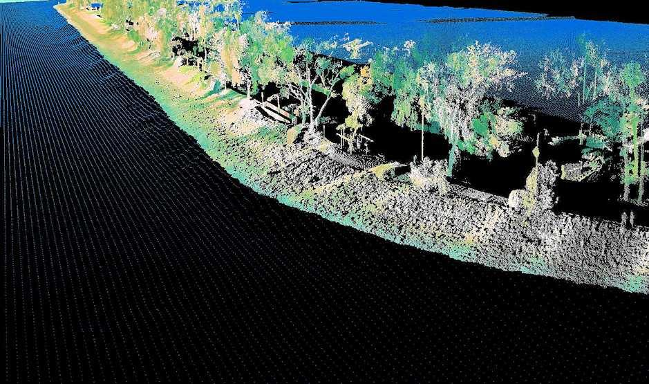 Drones can capture data to generate point clouds, orthophotos and digital terrain models.