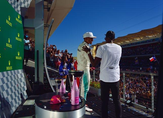 PODIUM CEREMONY ACCESS Included in Legend Packages Exclusive Podium