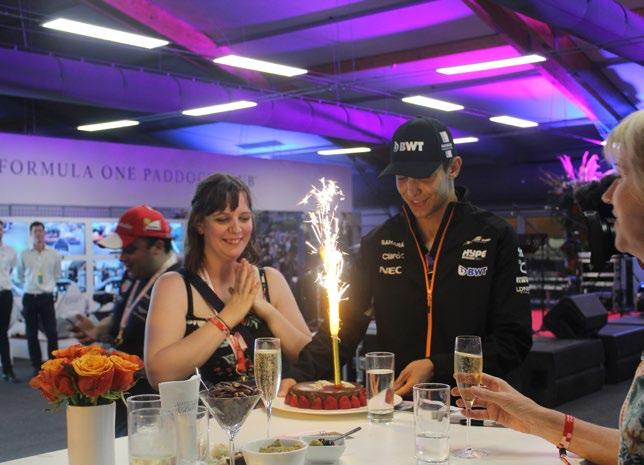 PADDOCK CLUB PARTY Included in Hero & Trophy Packages Hosted inside the famous Formula One Paddock Club, you