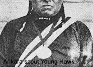As Custer and his soldiers prepared to attack the Lakota with high hopes of claiming the Black Hills and its gold for the U.S. government the Army relied on scouts like Young Hawk to guide them.