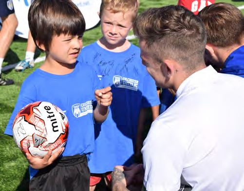 all attendees r all football fo ts! Player of the Week prizes participan Extra Time available after Summer Camp events Dates School Yrs Time Camp 1 30 July 3 August Reception - 11 9.30-13.
