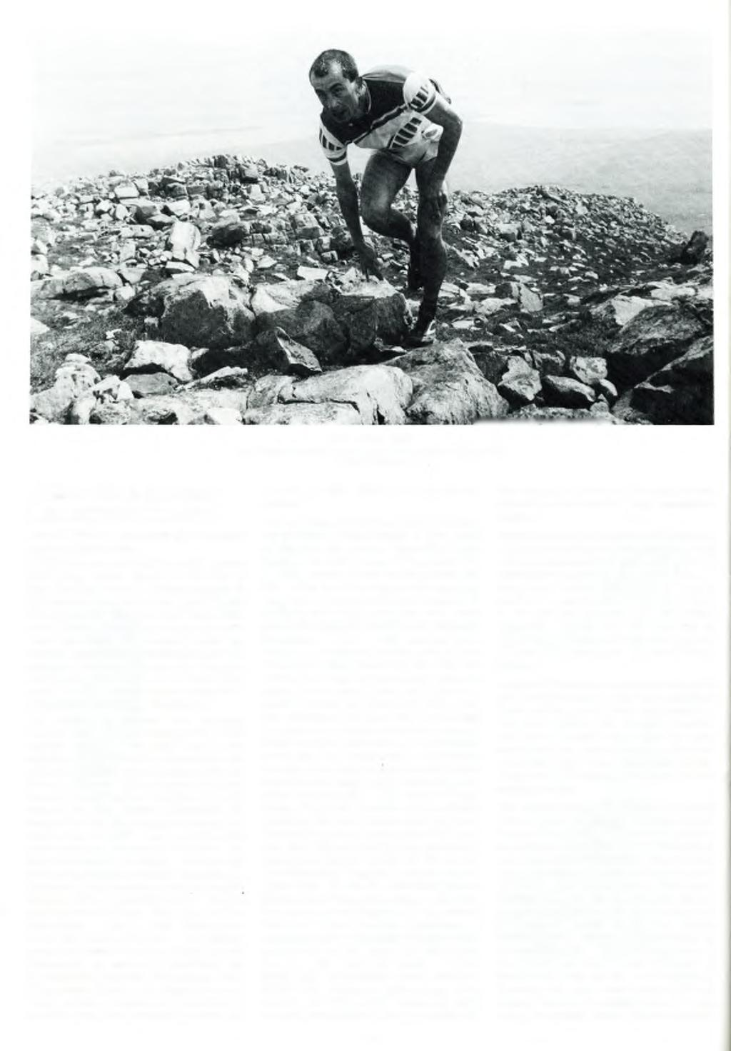 Bens o f Jura - 1993: Andy Trigg approaching the summit ofc orra Bheinn.