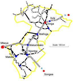 The main trunk road from Dar es Salaam to Lusaka Zambia (TANZAM Highway) crosses the region connecting it to the neighbouring regions of Morogoro to the west and Mbeya in the south west and is an