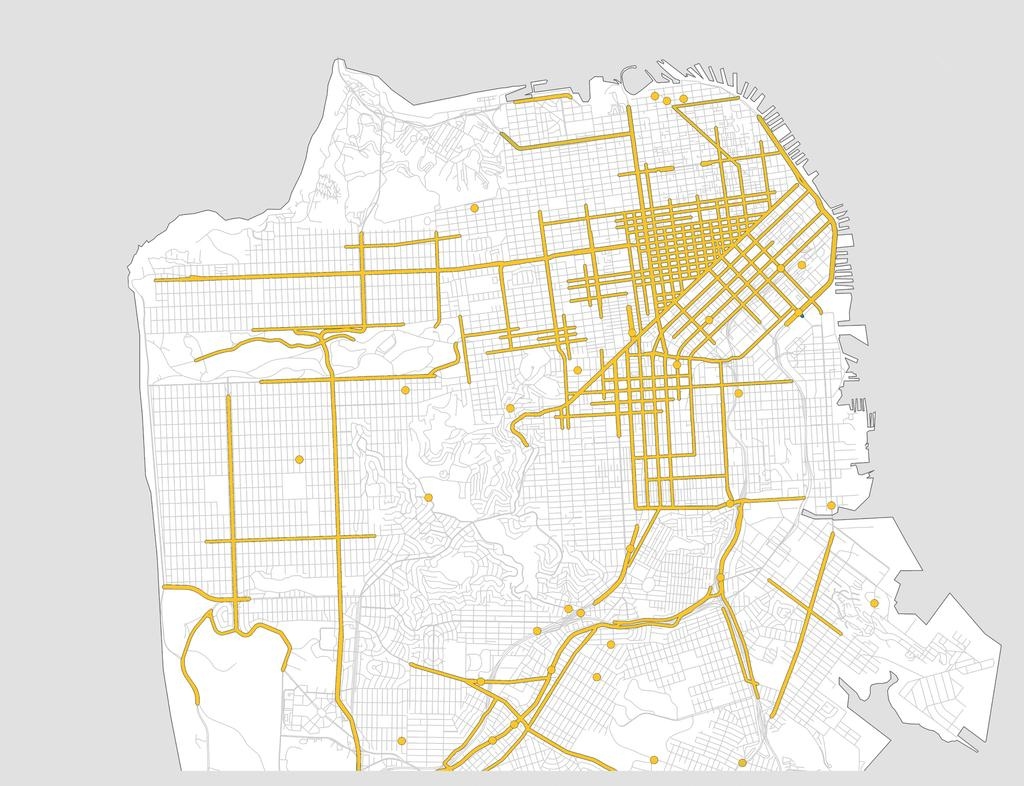 UNDERSTANDING THE DATA High Injury Network 30 people are killed in traffic crashes each year in San Francisco and 500 more are severely injured.