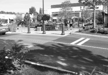 Chapter 3. Site Design Guidelines Pedestrian Crossings Provide frequent pedestrian crossing opportunities within sites and locate them at intersections wherever possible.