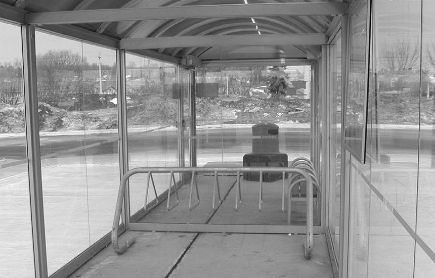 shelters where they are needed. Design Features Design waiting areas to meet the needs of all user groups, including those with impairments, parents with strollers, cyclists and the elderly.