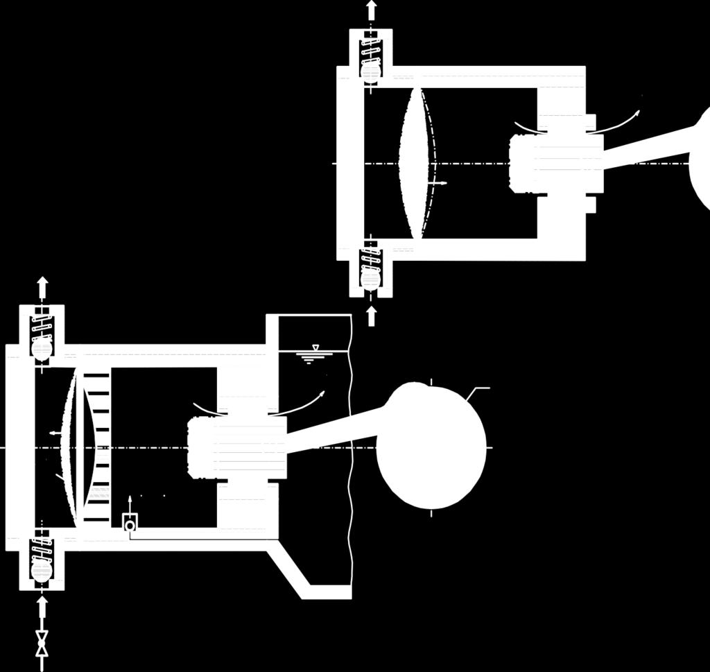 D Piston Pump/Diaphragm Pump FLUID n V L Evolution Evolutio FLUID Öl V L R V S ϕ V S Schritt 1