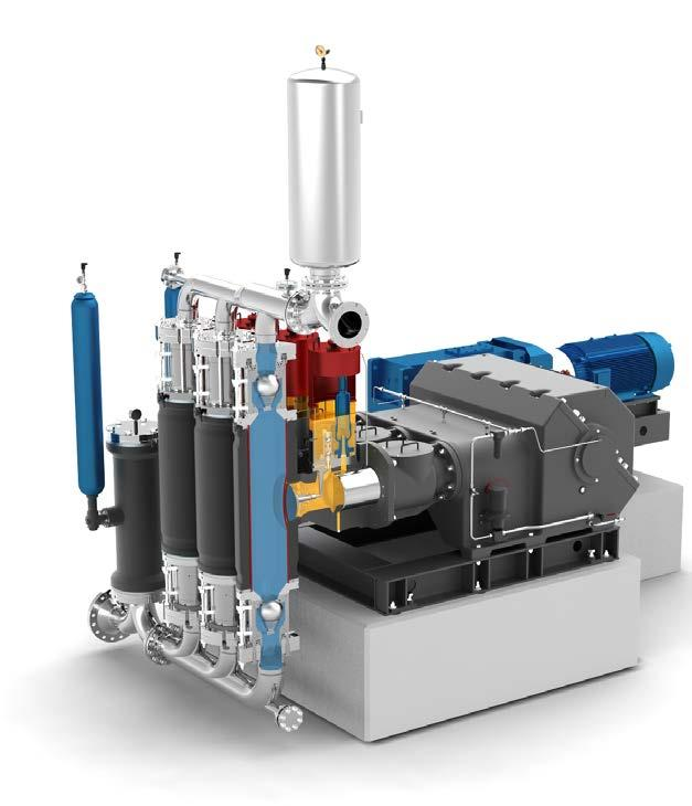 MULTISAFE Double Hose-Diaphragm Pump Downflow Configuration Triplex Double Hose-Diaphragm Pump For chemically and mechanically aggressive, liquids and highly viscous media with various viscosities