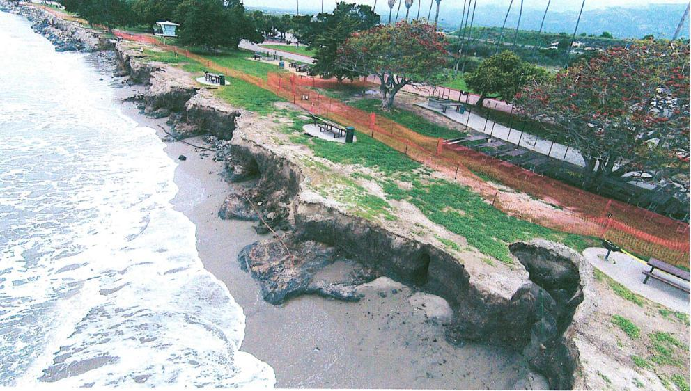 Park. March 2016 A very strong El Niño eroded approximately 30,000