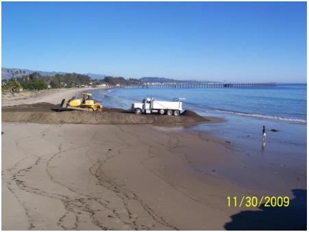 sediment from the Goleta Slough detention basins on Goleta Beach from 1994-2010 Due to the drought, no deposition occurred from