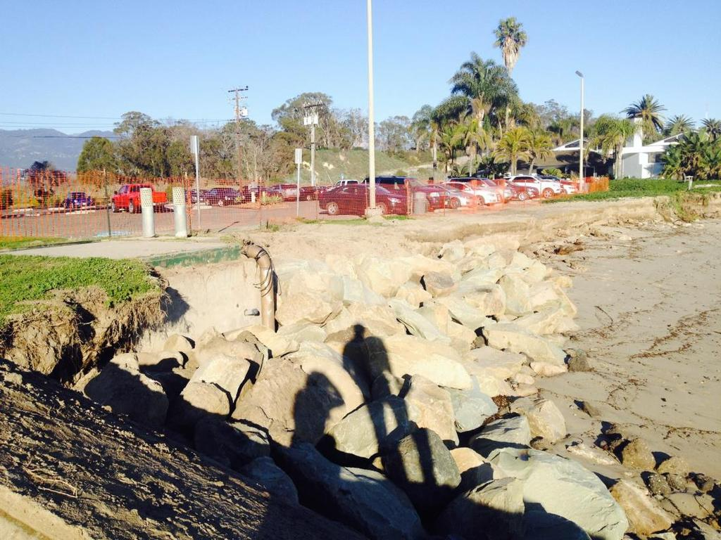 outfall vault January 2017 Rock protection for Goleta