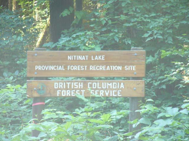 8 Turn right at the Nitinat Lake Provincial Forest