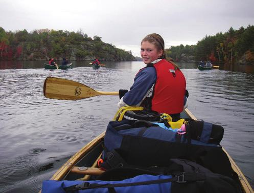 8 PADDLING SKILLS Competencies 8.1 I can plan and carry out a backcountry canoe trip with my team of at least 14 days, 250 km, and a minimum of 11 different camp sites. 8.2 I can inspect a rapid to determine the best lines for running it.
