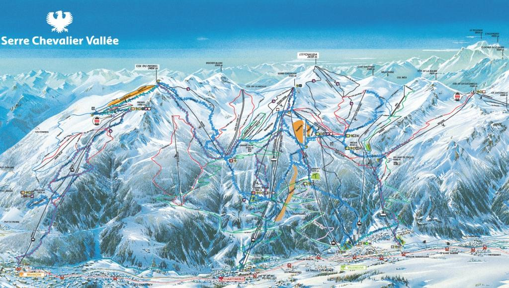 Ski area: SKI AREA: GRAND SERRE-CHEVALIER SKI DOMAIN From 1400m to 2800m 250 km