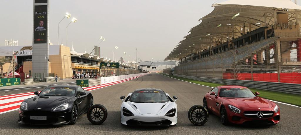 HOT LAPS LEGEND Feel the thrill of a ride in a supercar around the track, complimented with VIP Access to the world of Formula 1 with a Pirelli Hot Laps experience.