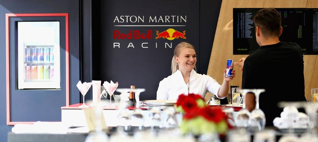 RED BULL HERO On Friday night you have the opportunity to attend an exclusive evening event with the Aston Martin Red Bull Racing Team.