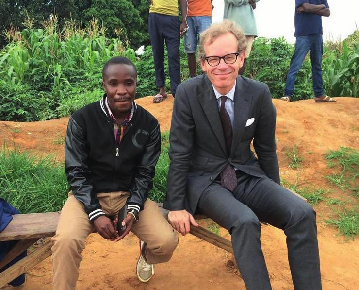 The Swedish ambassador Hendrik Cederin watched his son Nils playing for Chiparamba FC.