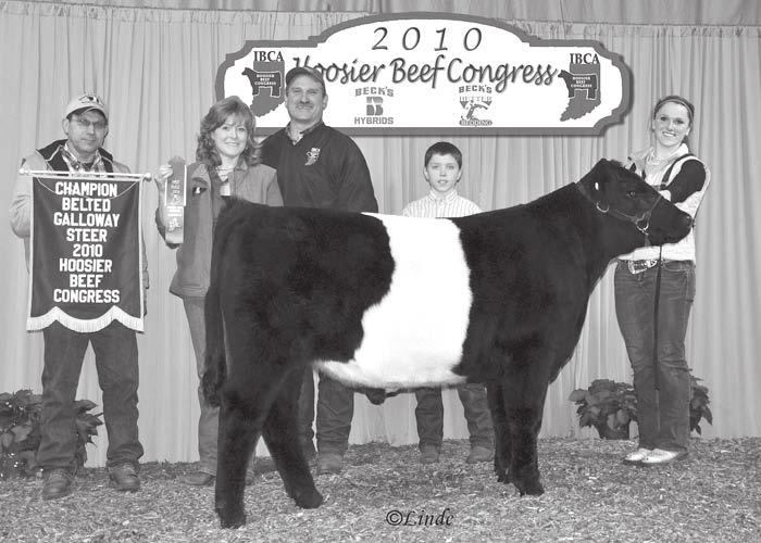 , exhibited the Reserve Champion Belted Galloway Heifer at the Hoosier Beef Congress.