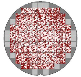 Topography Results Wafers were measured on a KT2360 Topography wafers exposed with open frame at 1.