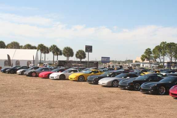 I met up with friends and Corvette owners from New Jersey that I met the previous year. On Thursday, March 14 th we drove to the racetrack and checked into the Corvette Corral.