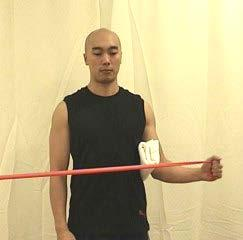 Theraband Strengthening These resistance exercises should be done very slowly in both directions.