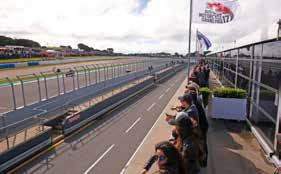 views of Turn 12 Outdoor balcony Morning tea, buffet lunch and afternoon tea Reserved