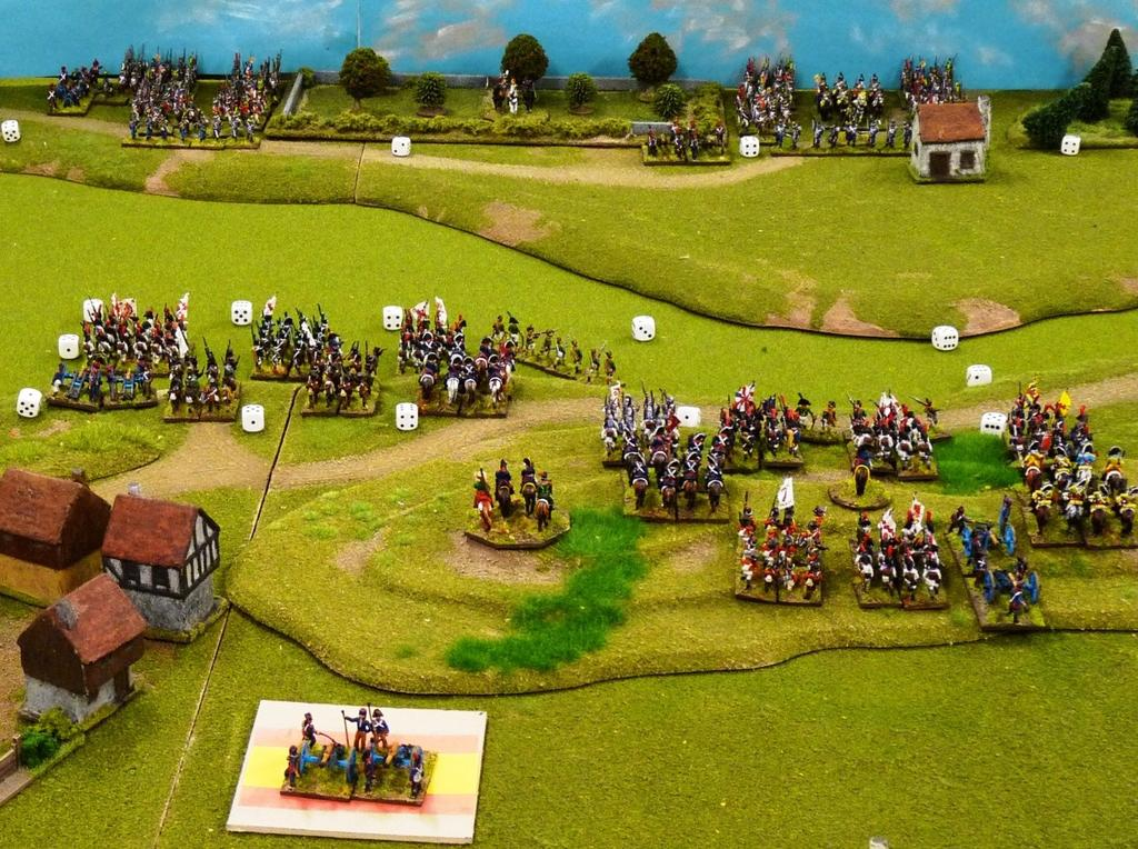 The Spanish heavy cavalry has 2 operations and uses the first to back step and the second to move from column to line.