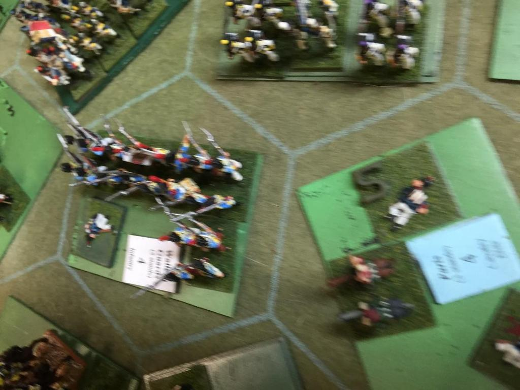 Paris brigade makes it to the left flank of the Spanish army With Paris brigade no longer holding them back, the Spanish right flank finished crossing the