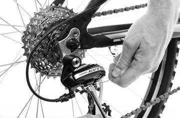 If your bicycle has gears and you are unsure how to tune and adjust them, you must seek an experienced bicycle mechanic UPPER LIMIT SCREW (H) ADJUST THE CABLE Make sure the chain is on the smallest