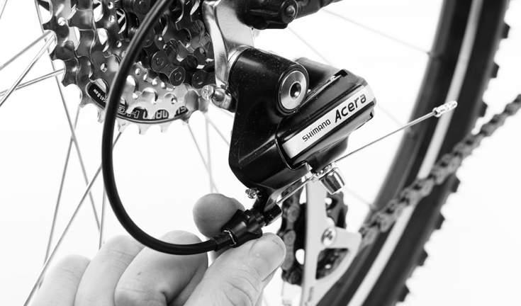 TUNING THE GEARS - REAR DÉRAILLEUR BARREL ADJUSTER ATTACHING THE REFLECTORS & BELL WARNING: REFLECTORS ARE NOT A SUBSTITUTE FOR REQUIRED LIGHTS.