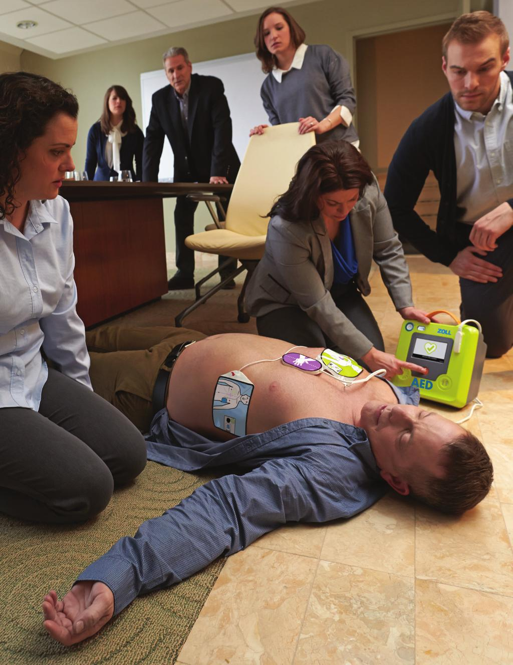 Research has shown ZOLL defibrillators equipped with Real CPR Help - providing real-time feedback for depth and rate of chest