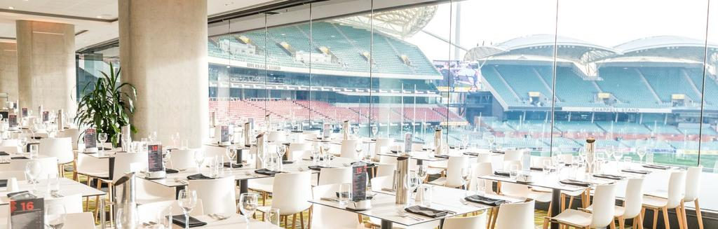 JOHN HALBERT ROOM AUDI STADIUM CLUB The Audi Stadium Club, the first of its kind in South Australia, provides exclusive and fully transferable access all year round.