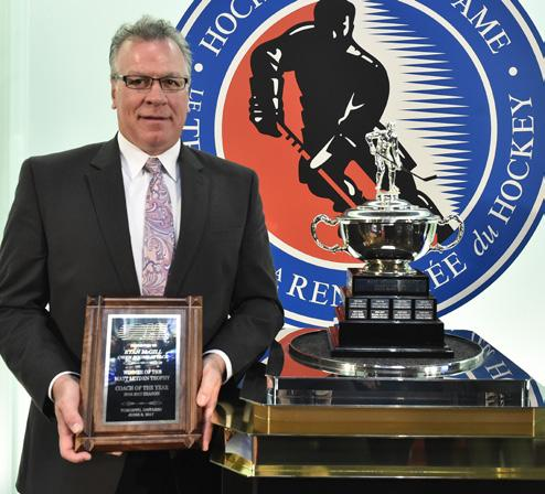 Matt Leyden Trophy (Coach of the Year) RYAN MCGILL OWEN SOUND ATTACK Ryan McGill led the Attack to an all-time franchise best record of 49-5-- for points finishing with the league s second best