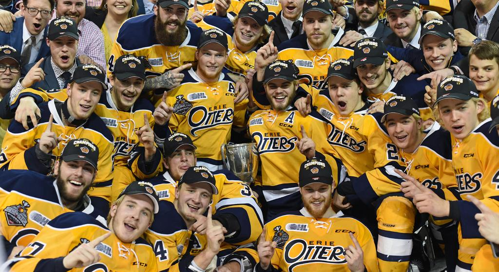 7 OHL Champions ERIE OTTERS 7 ONTARIO HOCKEY LEAGUE ROBERTSON CUP CHAMPIONS Wayne Gretzky 99 Award WARREN FOEGELE ERIE OTTERS Warren Foegele won the Wayne Gretzky 99 Award as the Most Valuable Player