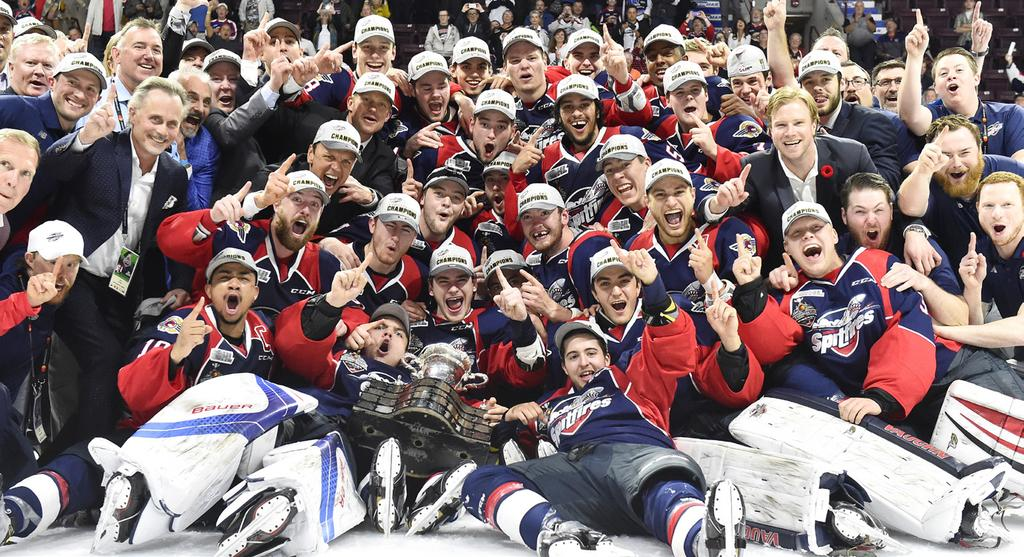 The Memorial Cup WINDSOR SPITFIRES 7 MASTERCARD MEMORIAL CUP CHAMPIONS The Memorial Cup, which has been in competition since 99, was presented in commemoration of the many great Canadian hockey
