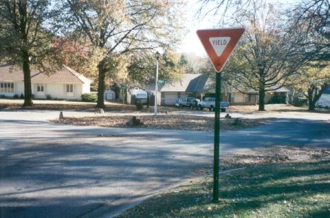- Creates a visual obstruction that deters through traffic. - Does not restrict access for residents. - Effect on vehicle speed limited to device s immediate vicinity.